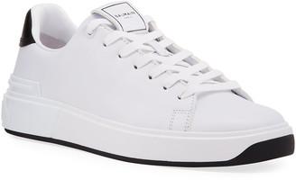 Balmain Men's B Court Leather Low-Top Sneakers