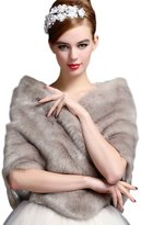 Aurora Bridal Luxury Faux Fur Shawl Wrap Stole Cape For Wedding