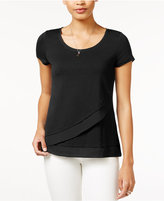 Maison Jules Asymmetrical Contrast Top, Only at Macy's