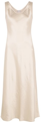 MAX MARA LEISURE Talette Ivory Satin Midi Dress