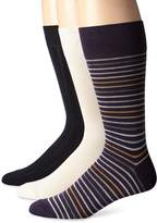 Cole Haan Men's 3 Pack Grounded Stripe Crew Socks