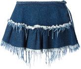 Marques Almeida Marques'almeida - frayed trim pleat skirt - women - Cotton - 8