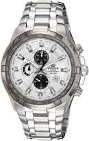 Casio Men's Edifice EF539D-7AV Silver Stainless-Steel Quartz Watch with Dial