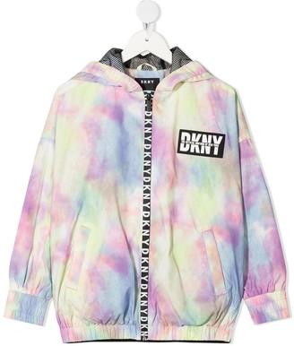 DKNY Tie-Dye Zipped Hoodie