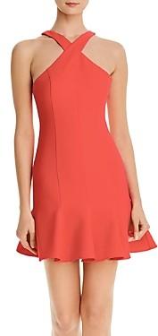 LIKELY Sleeveless Cross-Front Mini Dress