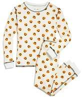 PJ Salvage Girls' Heart-Eyes Emoji Thermal Pajama Shirt & Pants Set - Big Kid