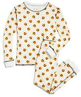 PJ Salvage Girls' Heart-Eyes Emoji Thermal Pajama Shirt & Pants Set - Little Kid