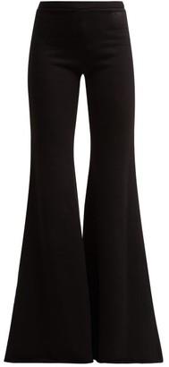 Vetements Flared Cotton Track Pants - Black