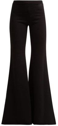 Vetements Flared Cotton Track Pants - Womens - Black