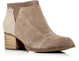 Toms Women's Loren Block-Heel Booties