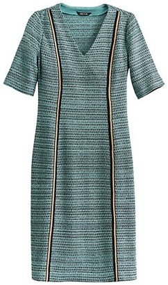 Misook V-Neck Light Tweed Dress