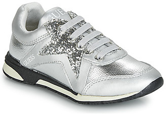 GUESS LITZY girls's Shoes (Trainers) in Silver