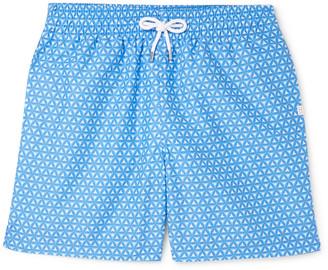 Derek Rose Tropez Wide-Leg Mid-Length Printed Swim Shorts