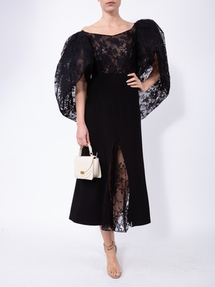 Givenchy Lace Top With Oversized Puff Sleeves