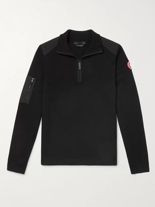 Canada Goose Stormont Cordura-Trimmed Merino Wool Half-Zip Sweater