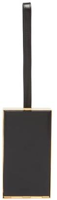 Jil Sander Metal-frame Mini Leather Wristlet Bag - Black