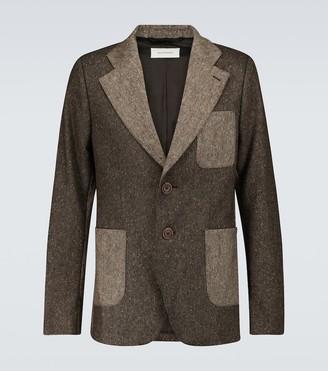 Wales Bonner Judah two-tone wool blazer