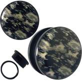 Piercing Deals Black Camouflage Logo Screw On Tunnel Ear Plugs Sold as Pairs (13/16 - 20mm)