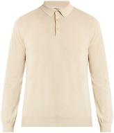 Boglioli Long-sleeved cotton polo shirt