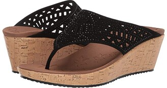 Skechers Beverlee - Summer Visit (Black) Women's Sandals
