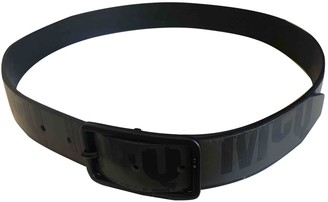 McQ Black Leather Belts