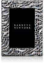 """Barneys New York Studio Mosaic-Embossed Leather 4"""" x 6"""" Picture Frame"""