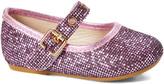 Zula Shoes Girls' Mary Janes FUCHSIA - Fuchsia Sequin Rivet Flat - Girls