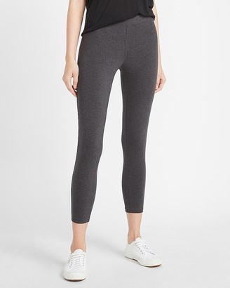 Express High Waisted Heathered Cropped Compression Leggings