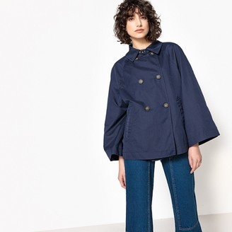 La Redoute Collections Short Trenchcoat with Batwing Sleeves