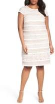 Eliza J Plus Size Women's Fringed Lace Sheath Dress