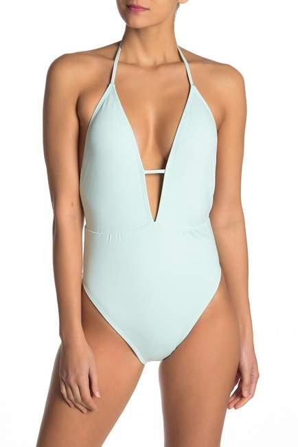 Bikini Lab The Solid Plunge Shirred One-Piece