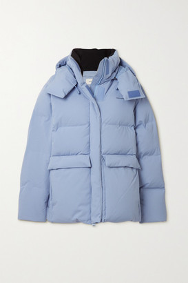 HOLZWEILER Besseggen Hooded Quilted Shell Down Jacket - Light blue