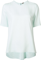 ADAM by Adam Lippes Short Sleeve Satin Crepe Top