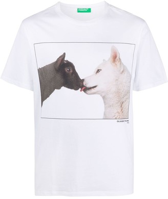 Benetton animal print T-shirt