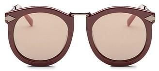 Karen Walker Super Luna 53MM Round Sunglasses