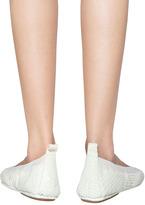 Yosi Samra Croco Ballet Flat in Ivory