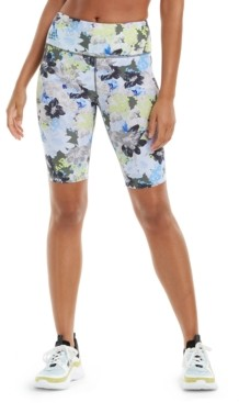 Calvin Klein Printed High-Waist Bike Shorts