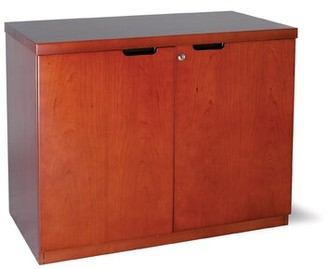Symple Stuff Updike 2 Door Credenza Symple Stuff Finish: Medium Cherry