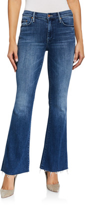 Mother The Weekender Frayed Boot-Cut Jeans