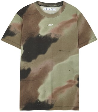 Off-White Camouflage Stencil printed cotton T-shirt