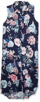 MinkPink Women's Little Blossom Print Sleeveless Midi Shirt Dress