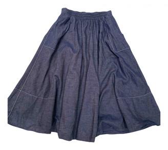 M.PATMOS Blue Cotton Skirts