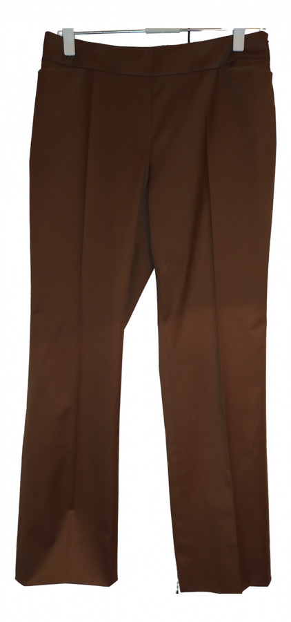 Thumbnail for your product : Akris Brown Cotton Trousers