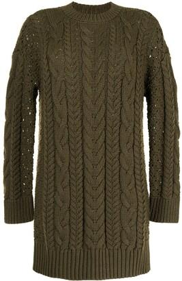 Alice + Olivia Lennie cable-knit dress