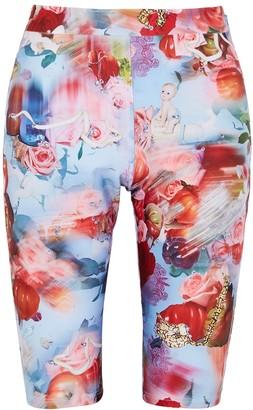 Collina Strada X Charlie Engman Osho printed shorts