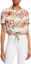 Dex Floral Print Short-Sleeve Button-Down Shirt