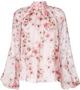 Giambattista Valli high neck floral blouse