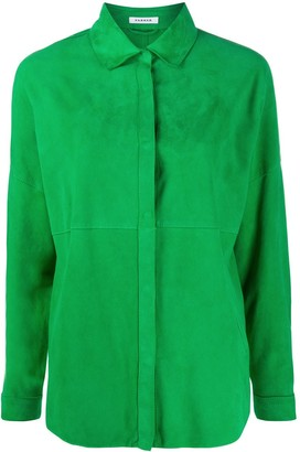 P.A.R.O.S.H. Suede Panel Shirt Jacket