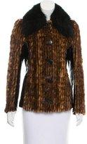 Dolce & Gabbana Mixed Fur Coat