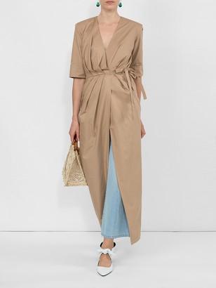 Sara Battaglia Long Wrap Dress